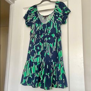 BCBGMAXAZRIA Spring/summer green and navy dress, L